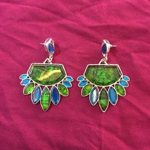 Jewelry - Chunky Blue and Green Earrings